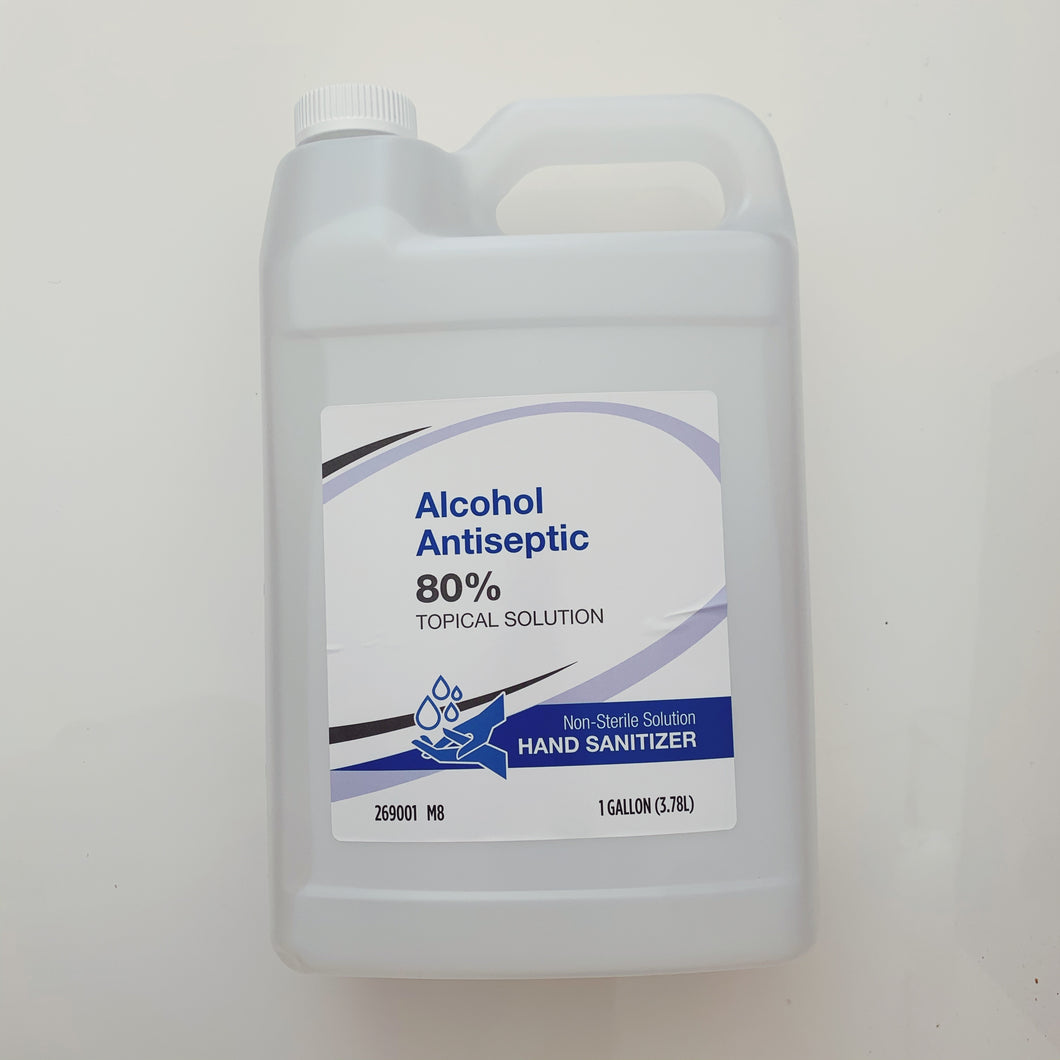 Alcohol Antiseptic Liquid Hand Sanitizer 80% Alcohol - 1 Gallon