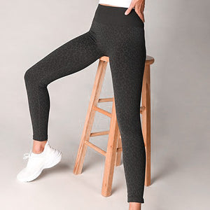Leopard Seamless Leggings - Charcoal