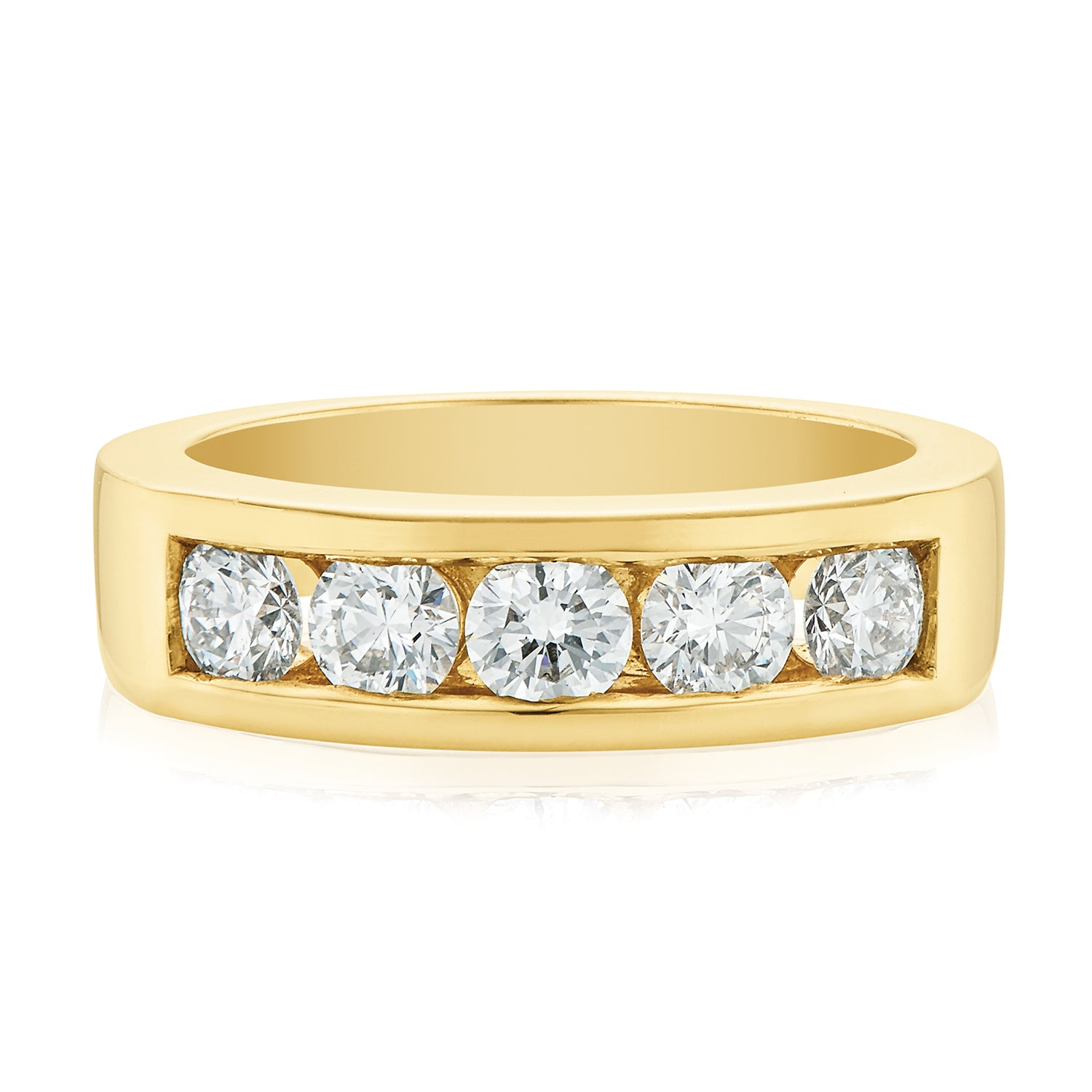Rand 18ct Yellow Gold Round Brilliant Cut with 1 CARAT tw of Diamonds