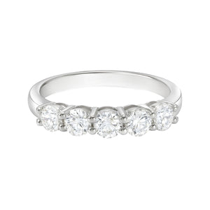 Rand 18ct White Gold Round Brilliant Cut with 1 CARAT tw of Diamonds