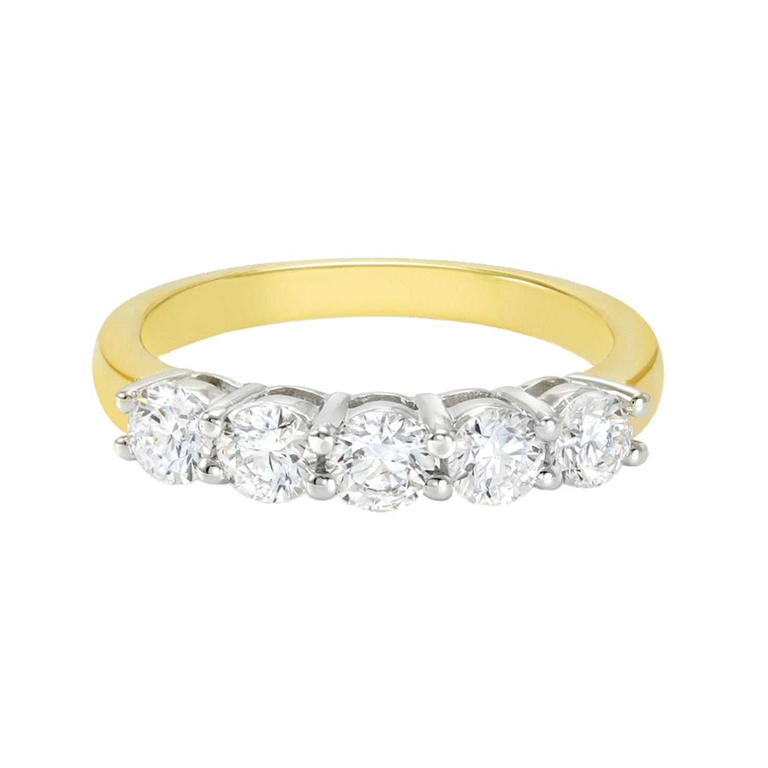 18ct Two Tone Rand Gold Round Brilliant Cut - 1 Carat Diamond