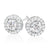 Rand 18ct White Gold Round Brilliant Cut with 0.55 CARAT tw of Diamonds