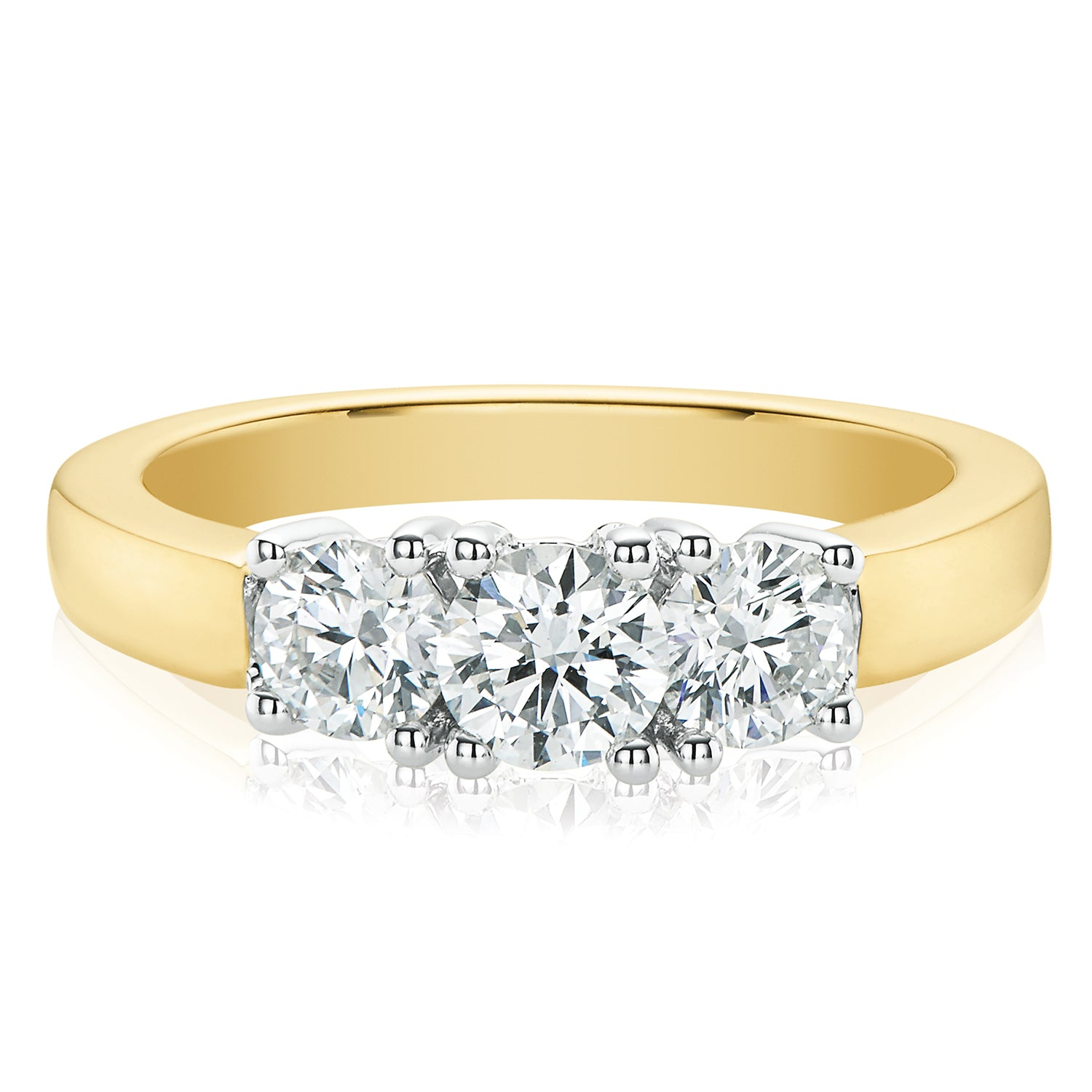Rand 18ct Two Tone Gold Round Brilliant Cut with 1 CARAT tw of Diamonds