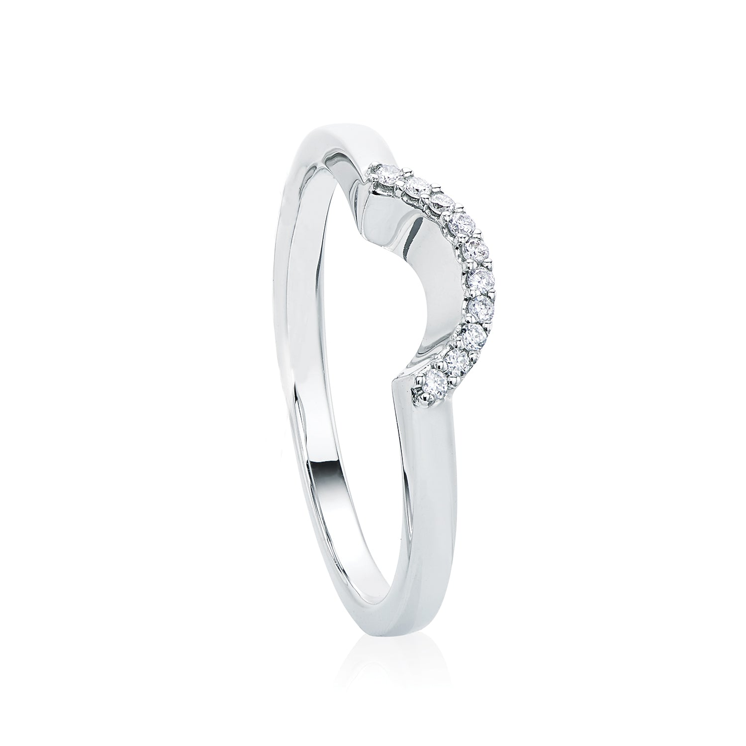 Rand 18ct White Gold Round Brilliant Cut with 0.05 CARAT tw of Diamonds
