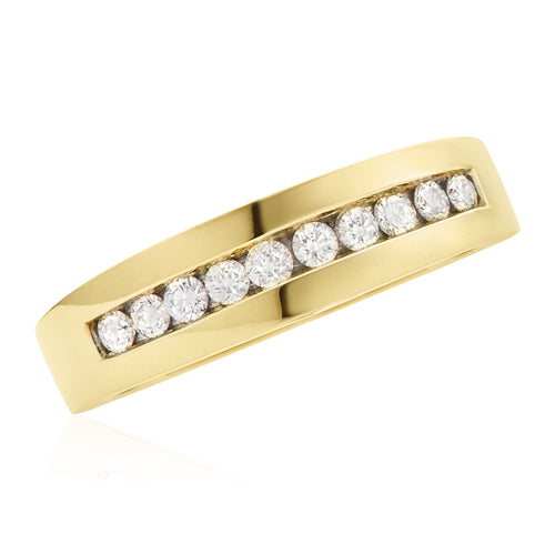 9ct Yellow Gold Round Brilliant Cut with 1/2 CARAT tw of Diamonds