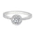 Rand 18ct White Gold Round Brilliant Cut with 3/4 CARAT tw of Diamonds