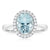 18ct White Gold Oval Cut Aquamarine with 0.15 CARAT tw of Diamonds
