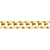 9ct Yellow Gold 8mm Bevelled Diamond Cut Curb in 23cm