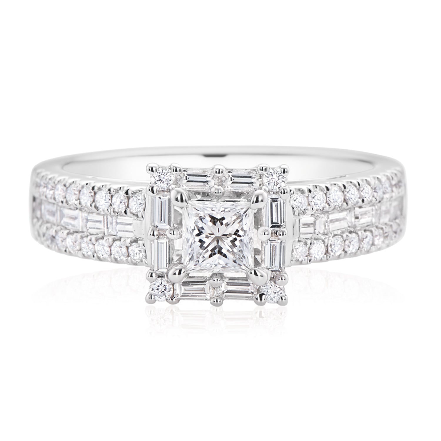 Rand 18ct White Gold Princess Cut with 1.15 CARAT tw of Diamonds