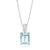 18ct White Gold Emerald Cut Aquamarine Diamond Set
