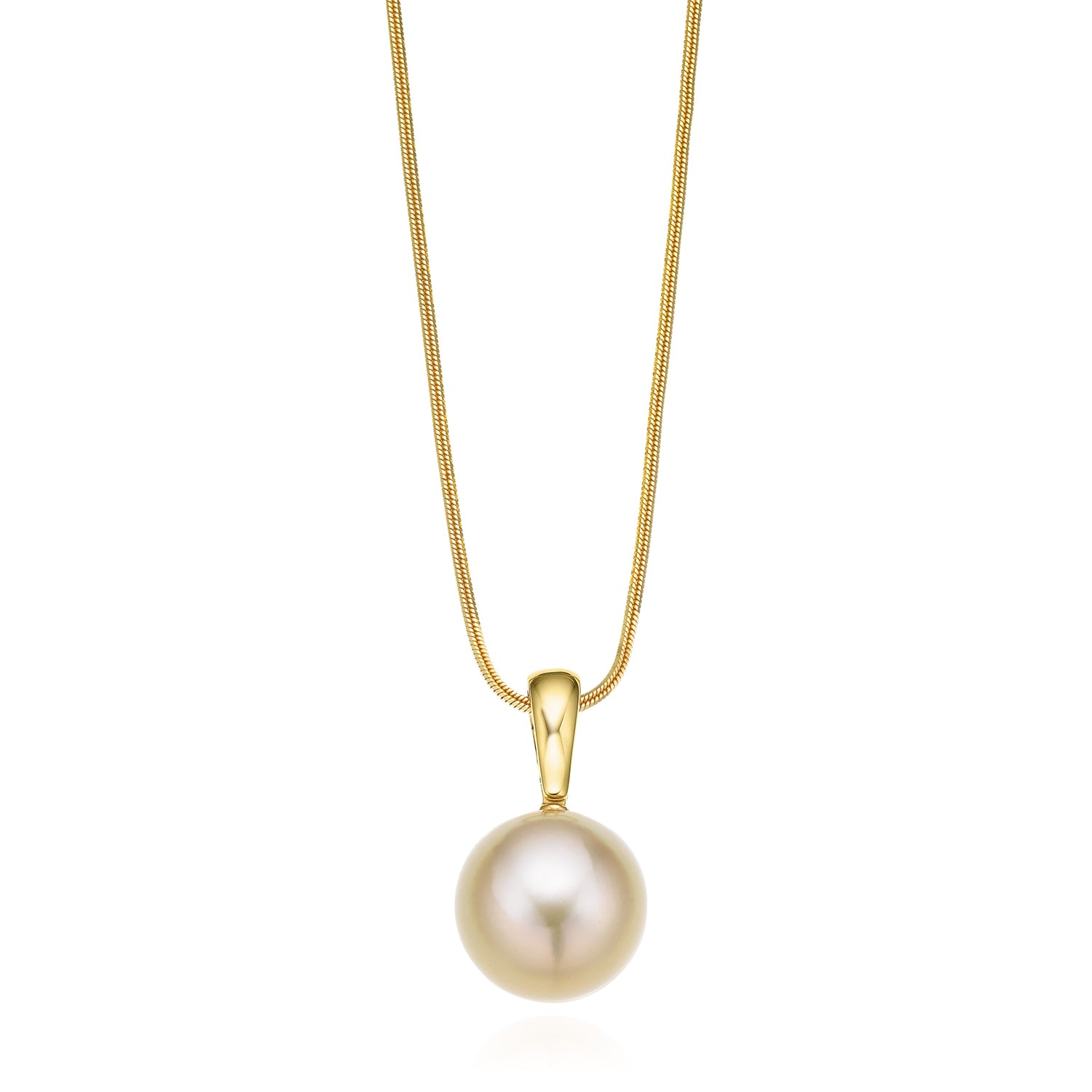 18ct Yellow Gold 12-13mm Gold South Sea Pearl