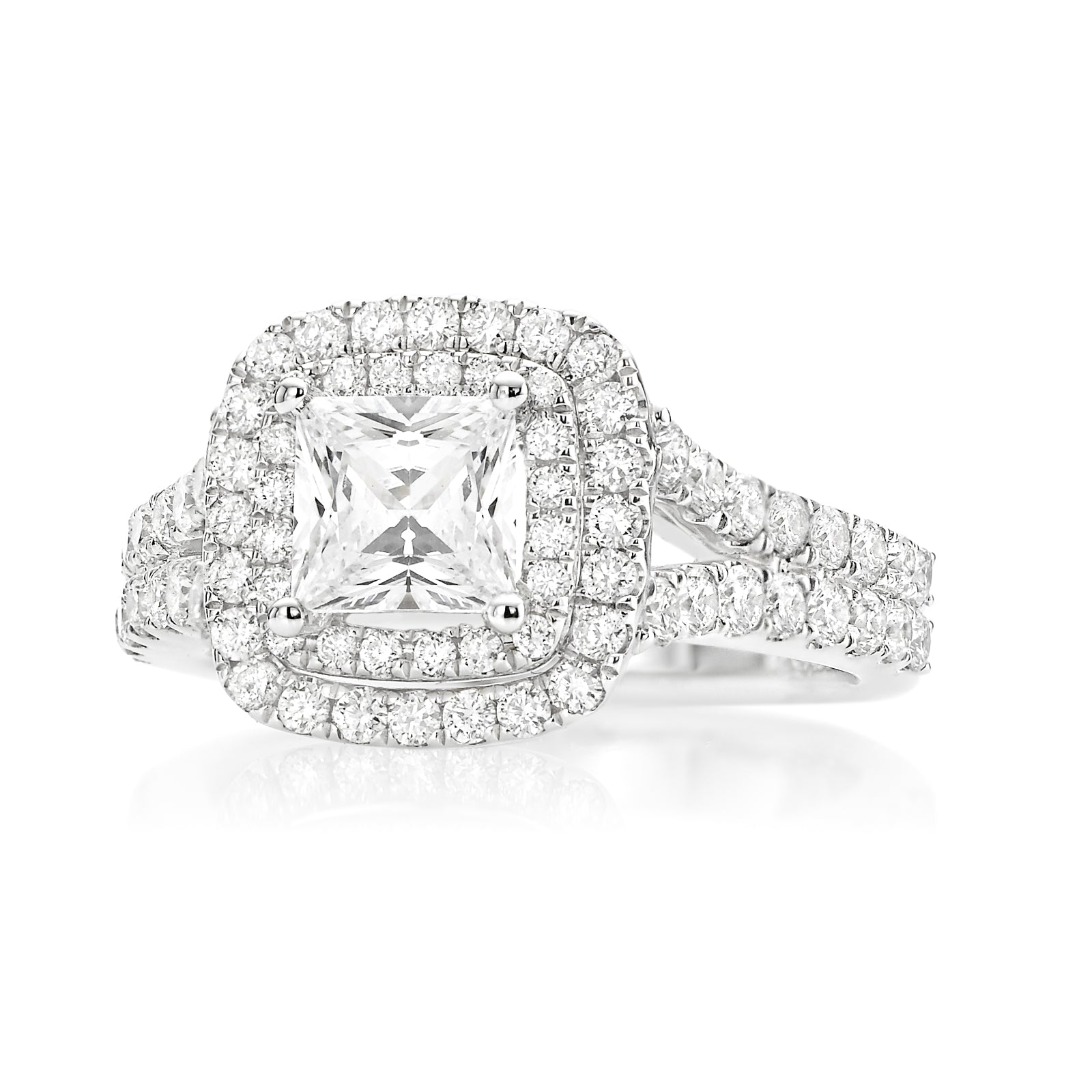 Vera Wang Love 18ct White Gold Princess & Round Brilliant Cut with