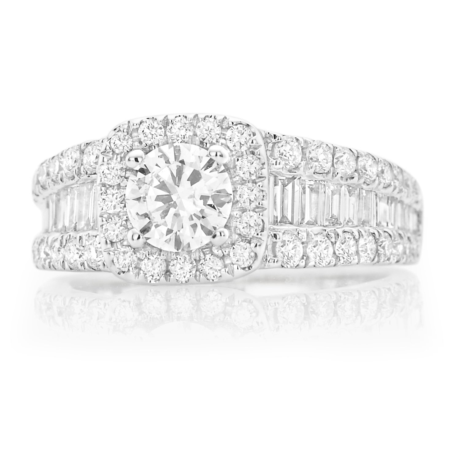 Vera Wang Love 18ct White Gold Round Brillant & Baguette Cut with 2 CARAT tw of Diamonds