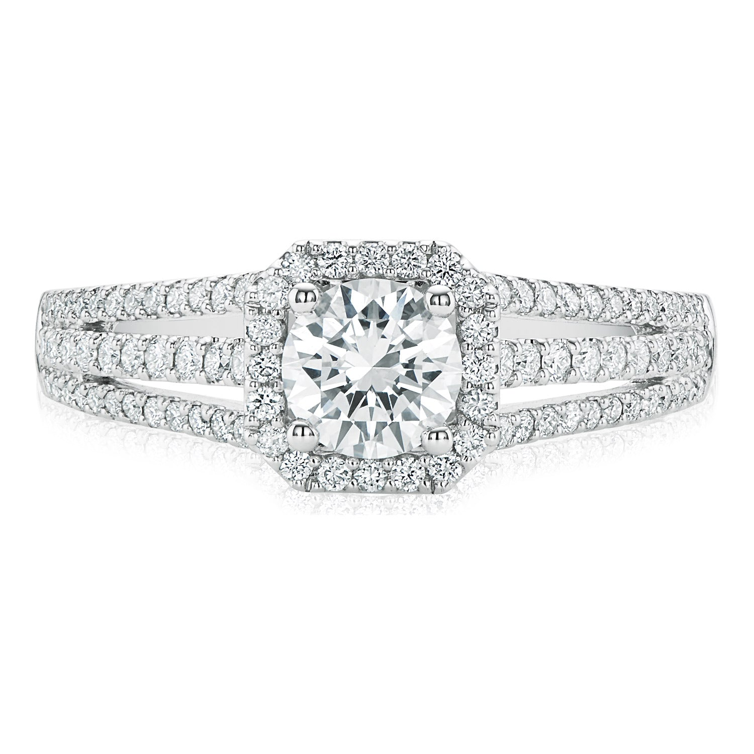 Vera Wang Love 18ct White Gold Round Brilliant Cut with 1 CARAT tw of Diamonds