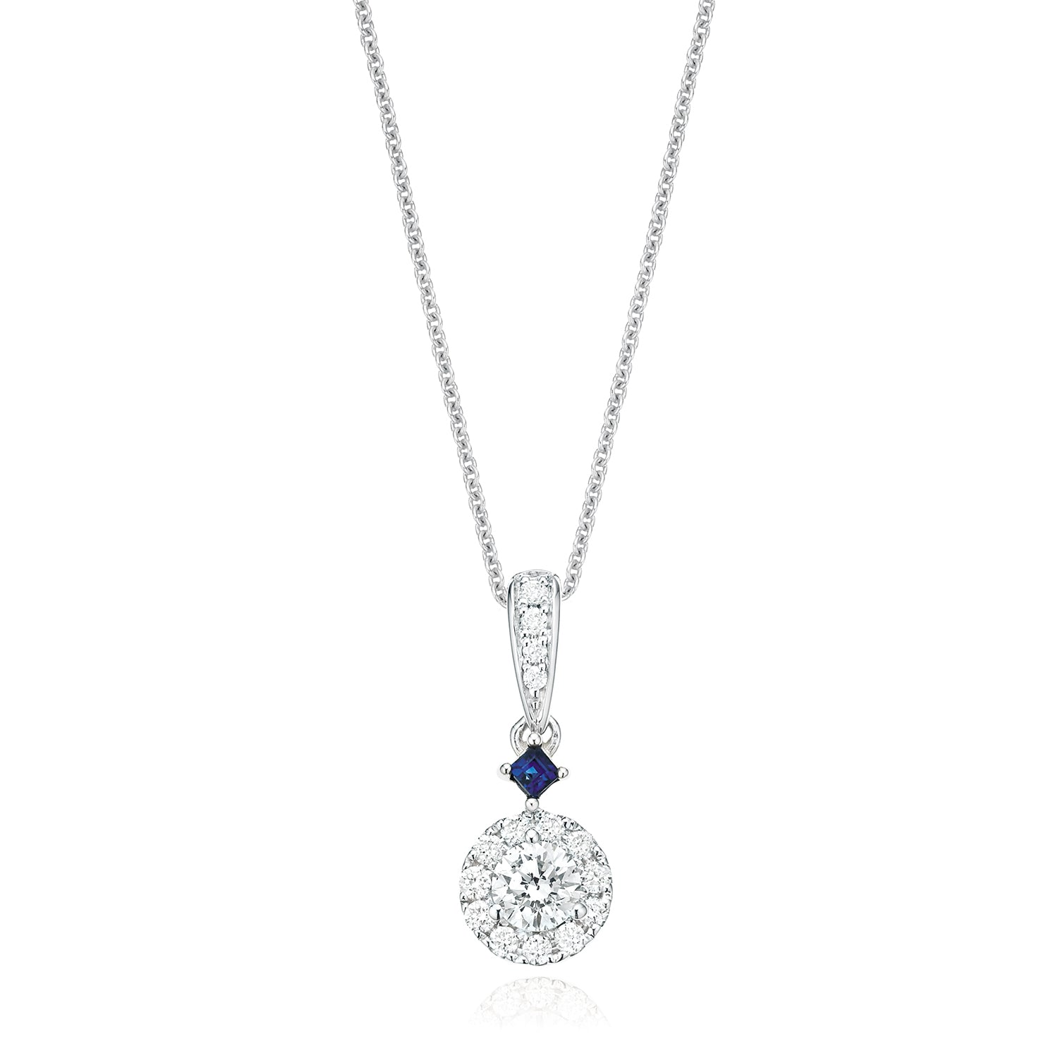 Vera Wang Love 18ct White Gold Round Brilliant Cut with 0.40 CARAT tw of Diamond Pendant