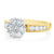 18ct Two Tone Gold Round Brilliant Cut with 1 CARAT tw of Diamonds