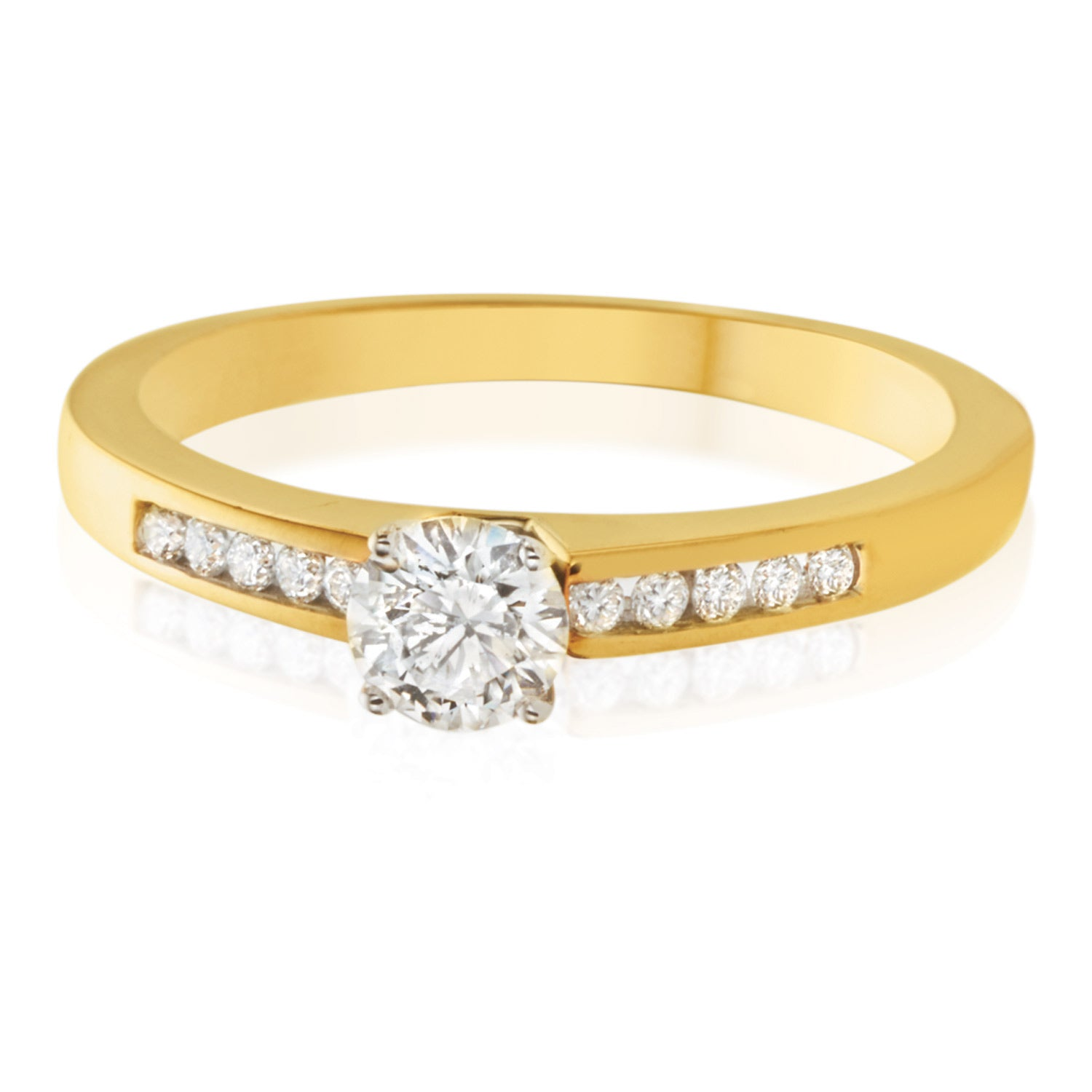 18ct Two Tone Gold Round Brilliant Cut with 1/2 CARAT tw of Diamonds