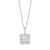 Rand 18ct White Gold Princess, Round Brilliant & Baguette Cut with 0.70 CARAT tw of Diamond Pendant