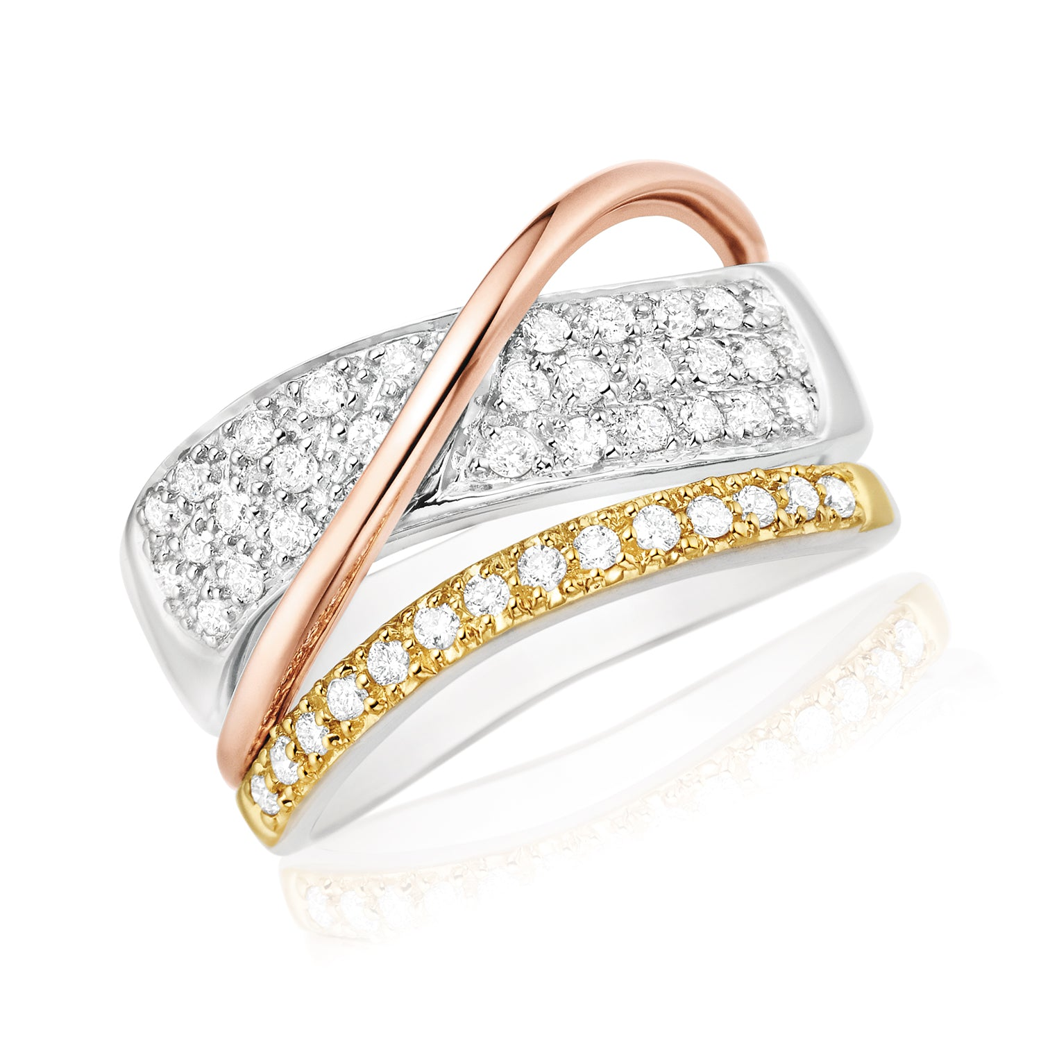 18ct Two Tone Gold Round Brilliant Cut with 0.40 CARAT tw of Diamonds