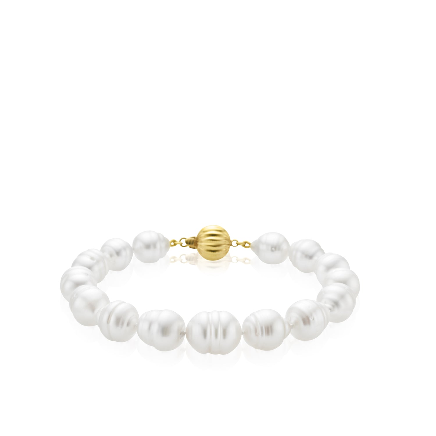 9ct Yellow Gold 9-11mm South Sea Pearl