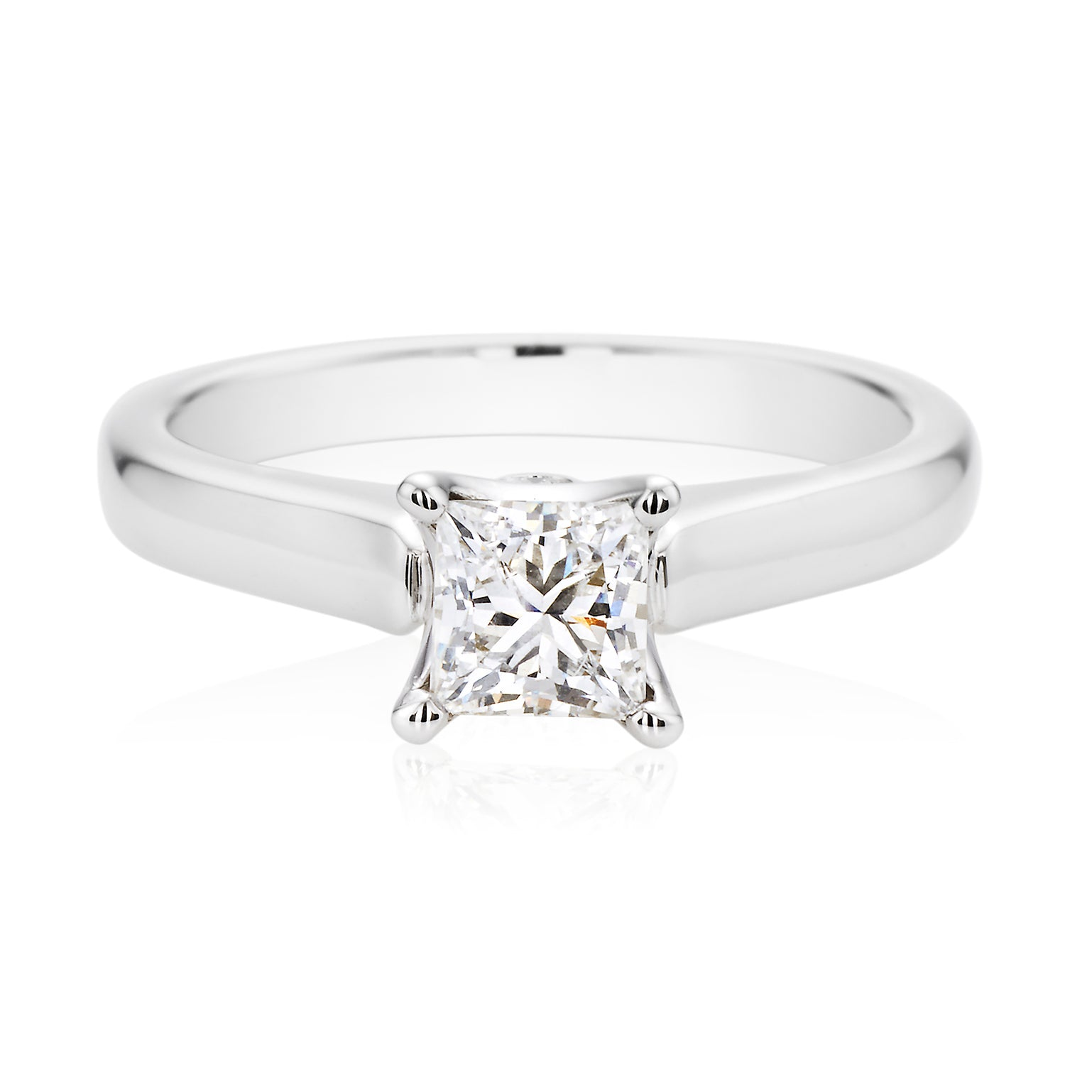 Promise 18ct White Gold Princess Cut with 1/2 CARAT of Diamonds