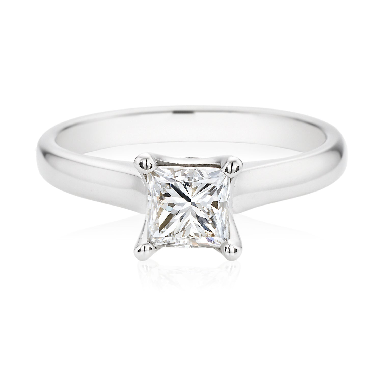 Promise 18ct White Gold Princess Cut with 1 CARAT of Diamonds