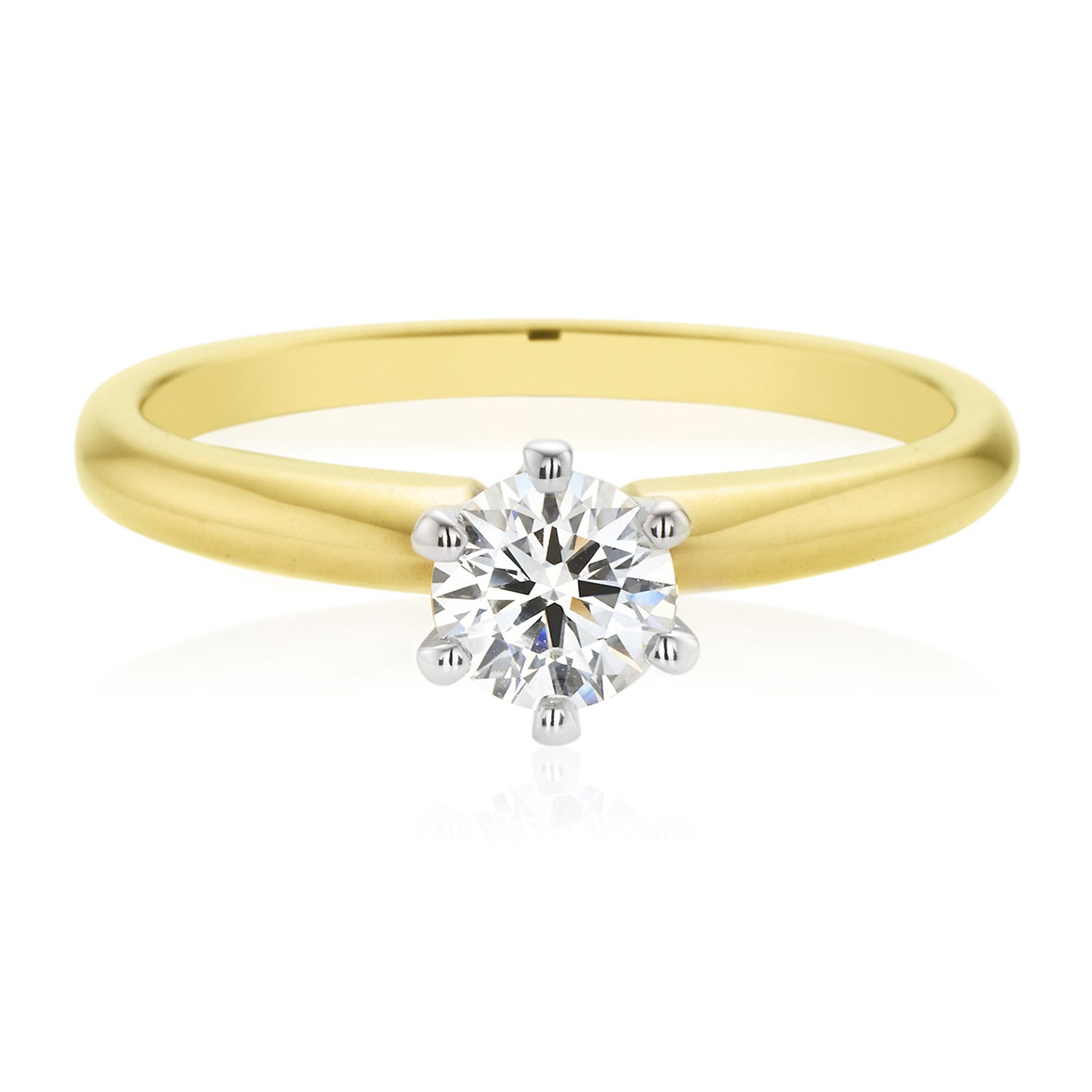 Promise 18ct Two Tone Gold Round Brilliant Cut with 1/2 CARAT of Diamonds