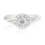 Platinum Round Brilliant Cut with 1/2 CARAT tw of Diamonds