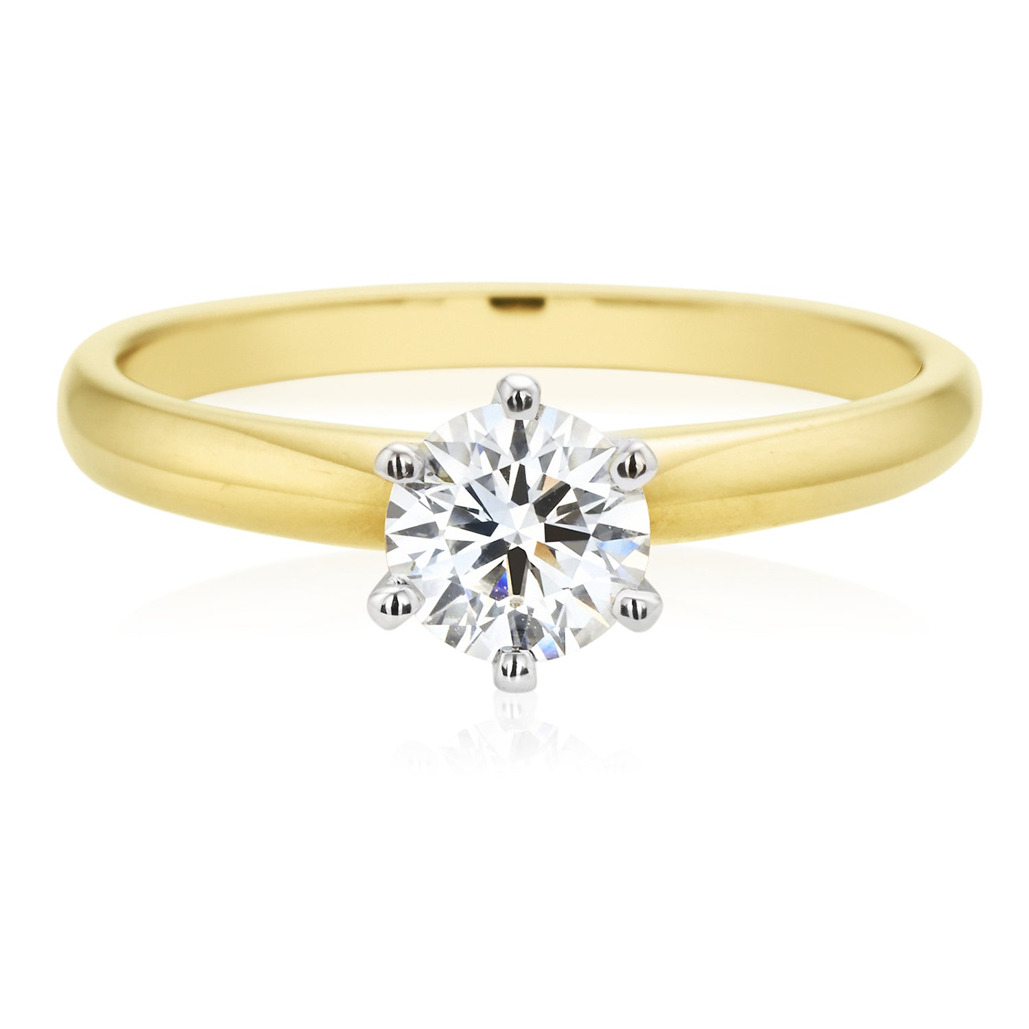 Promise 18ct Two Tone Gold Round Brilliant Cut with 0.70 CARAT of Diamonds