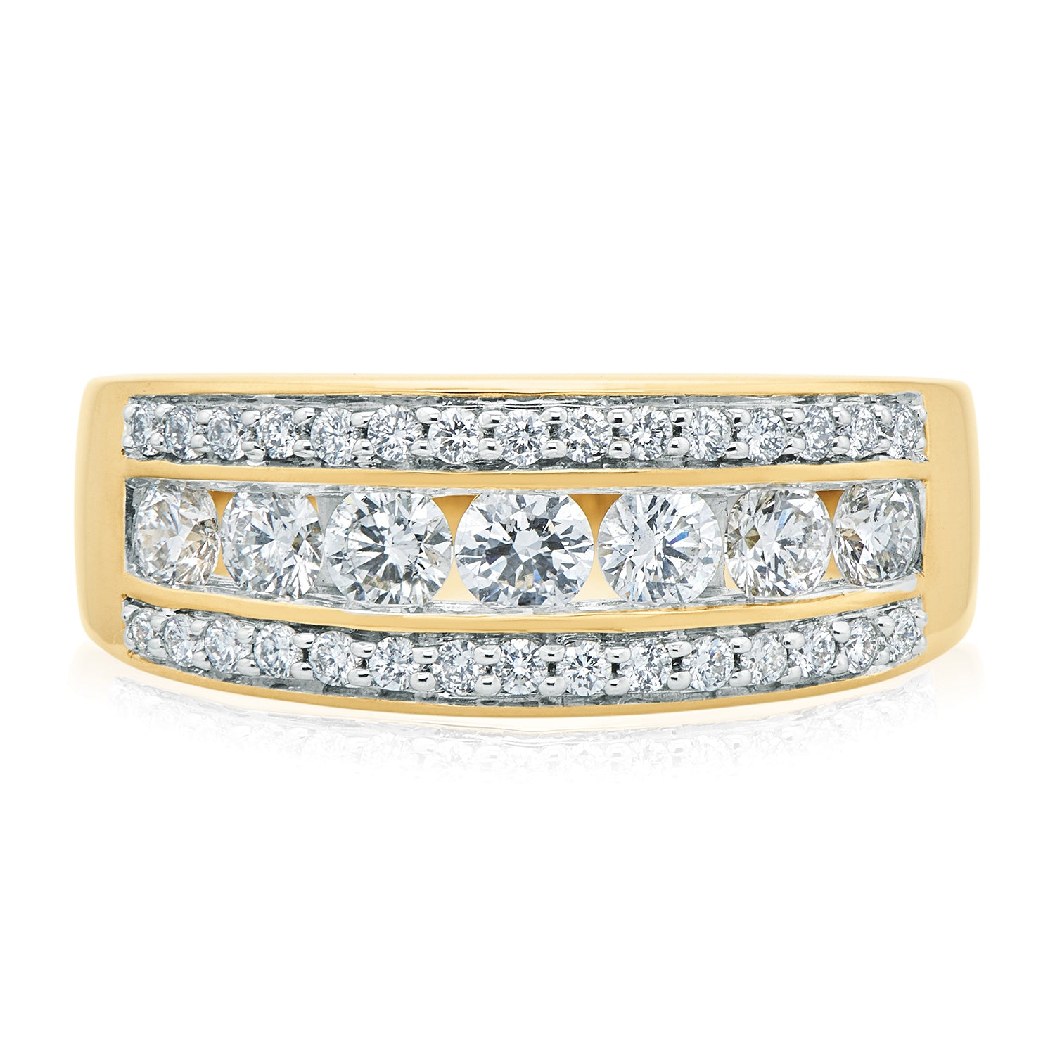 18ct Yellow Gold Round Brilliant Cut with 1 CARAT tw of Diamonds