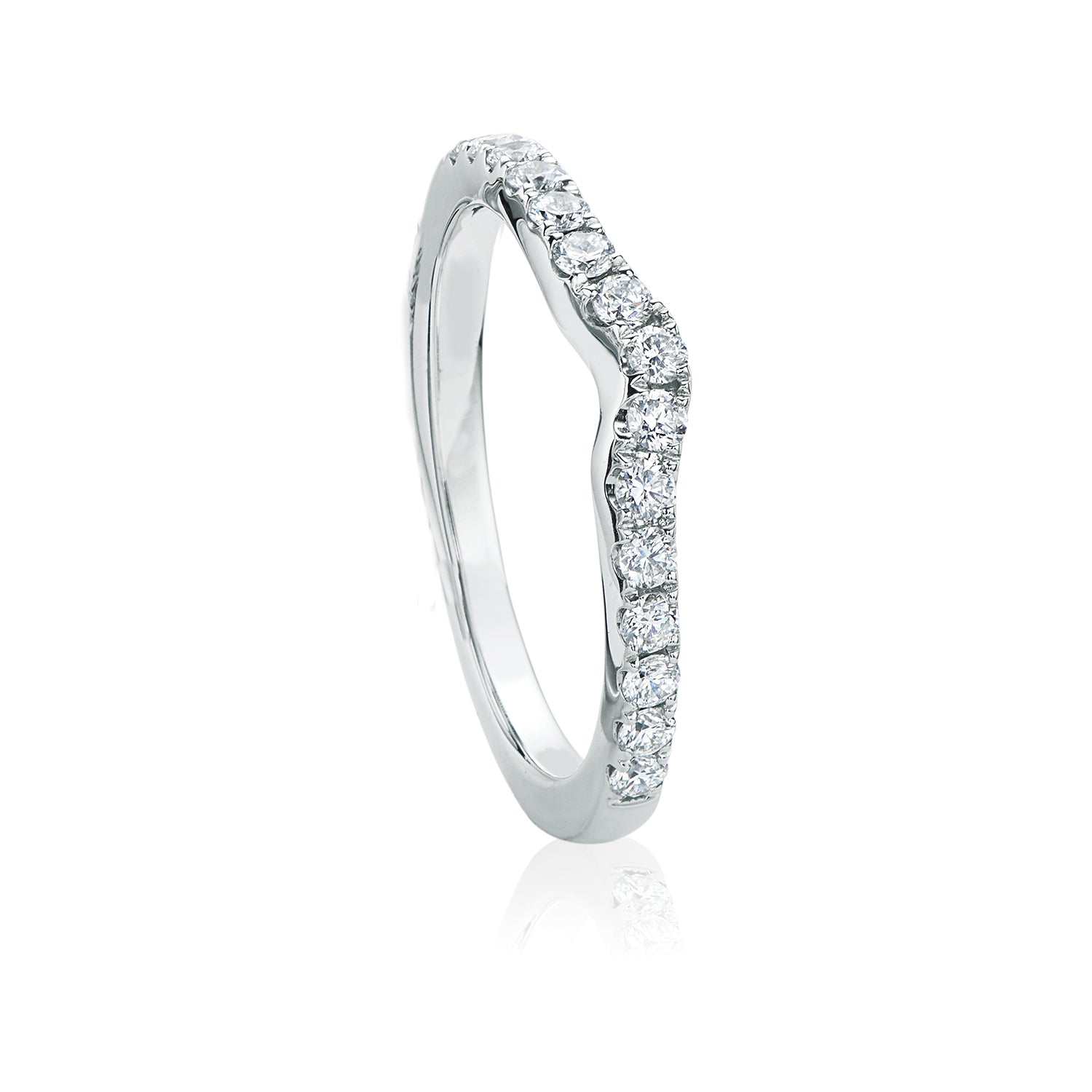 Rand 18ct White Gold Round Brilliant Cut with 0.40 CARAT tw of Diamonds