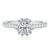 Rand 18ct White Gold Round Brilliant Cut with 1.10 CARAT tw of Diamonds