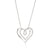 9ct White Gold Round Brilliant Cut with 1/4 CARAT tw of Diamond Heart Pendant