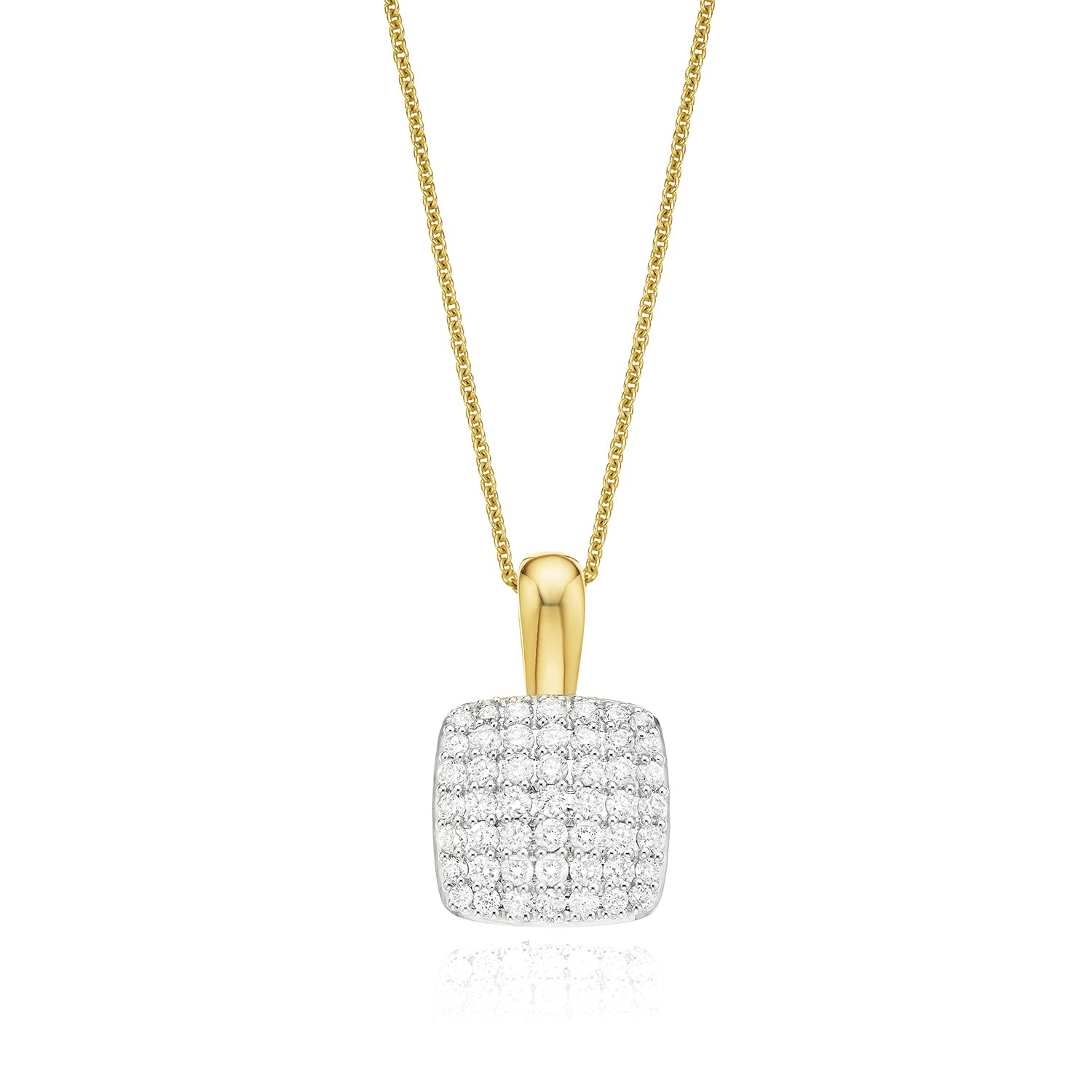 18ct Yellow Gold Round Brilliant Cut with 1 CARAT tw of Diamond Pendant