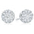 18ct White Gold Round Brilliant Cut with 0.74 CARAT tw of Diamonds