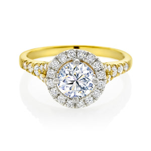 Forevermark 18ct Two Tone Gold Round Brilliant Cut with 1.45 CARAT tw of Diamonds