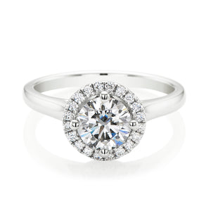 Forevermark 18ct White Gold Round Brilliant Cut with 1.14 CARAT tw of Diamonds