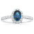 18ct White Gold Oval Cut Sapphire with 1/2 CARAT tw of Diamonds