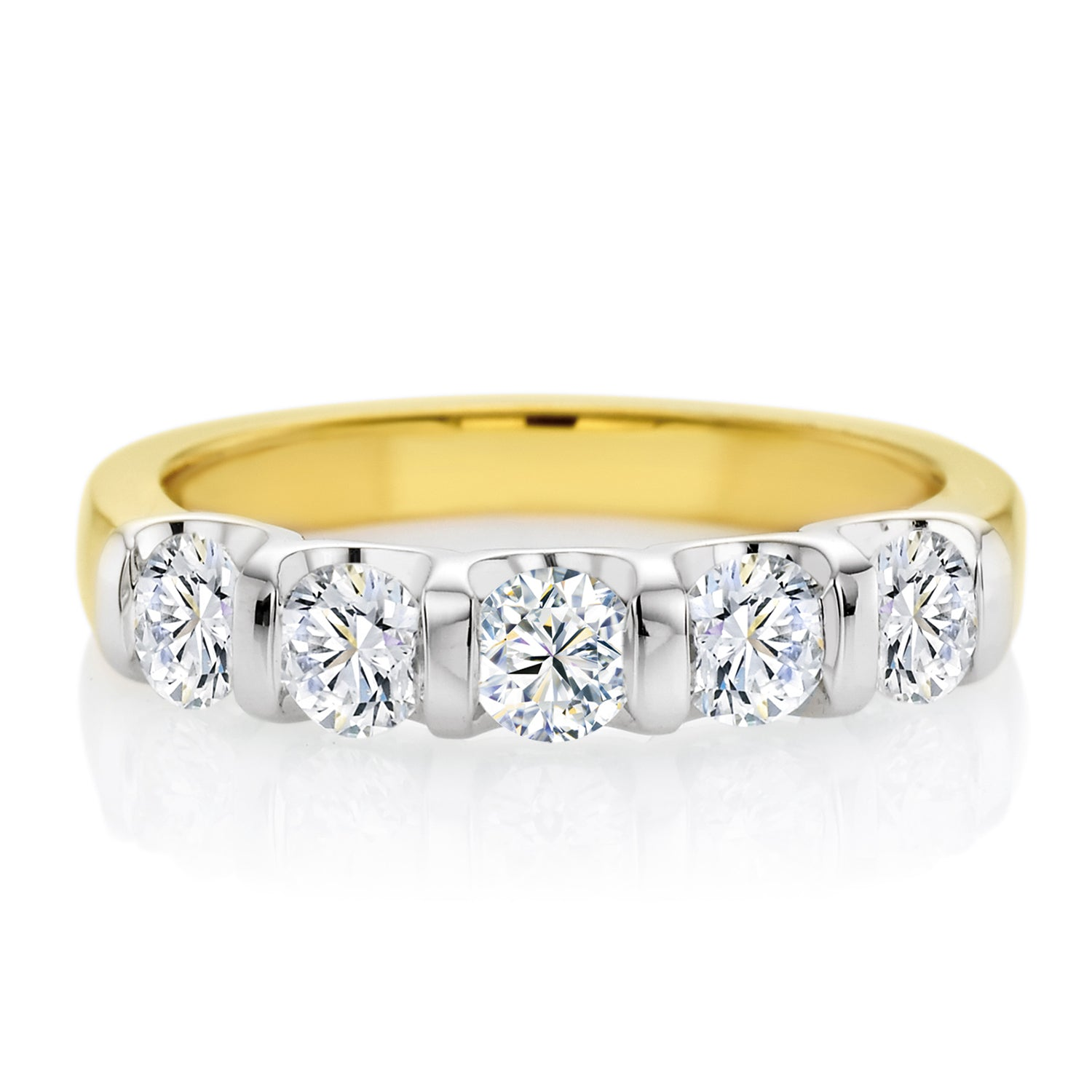 Forevermark 18ct Two Tone Gold Round Brilliant Cut with 1 CARAT tw of Diamonds