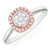 Pink Diamonds 9ct Rose & White Gold Round Brilliant Cut with 0.20 CARAT tw of Diamonds