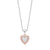 Pink Diamonds 9ct Rose & White Gold Round Brilliant Cut with 0.15 CARAT tw of Diamond Pendant