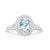 18ct White Gold Oval Cut Aquamarine with 0.35 CARAT tw of Diamonds