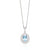 18ct White Gold Oval Cut Aquamarine with 1/4 CARAT tw of Diamonds