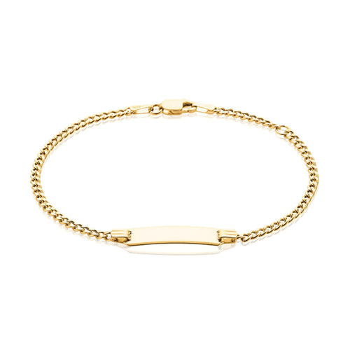 9ct Yellow Gold 16cm ID Bracelet