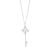 9ct White Gold Round Brilliant Cut with 0.09 CARAT tw of Diamond Pendant