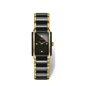 RADO Integral Small watch, Black High-Tech Ceramic with yellow PVD and diamonds R20845712