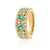 18ct Yellow Gold Round Brilliant Cut Emerald with 1/4 CARAT tw of Diamonds
