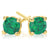 9ct Yellow Gold Round Brilliant Cut Emerald