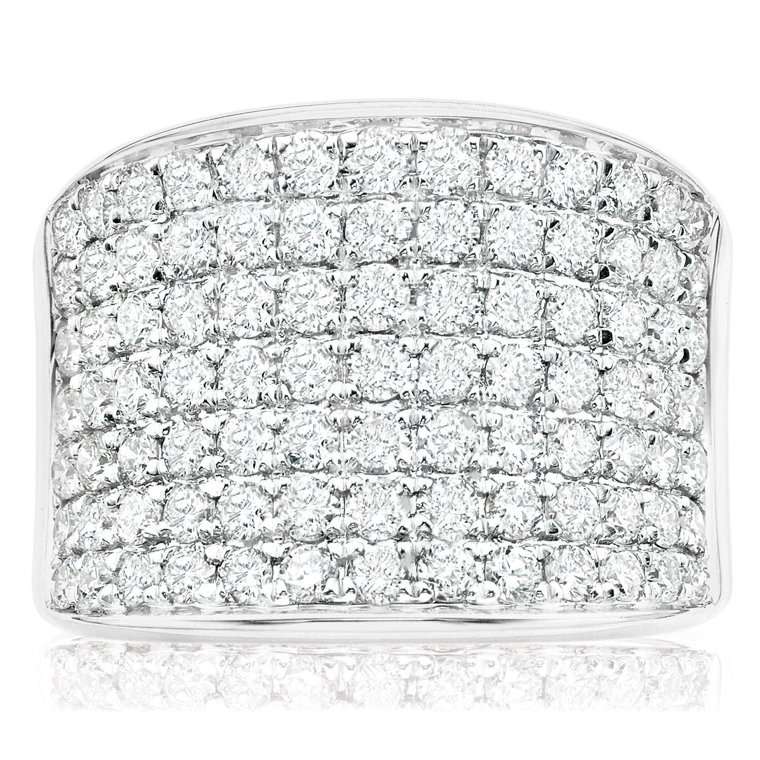 9ct White Gold Round Brilliant Cut with 2 CARAT tw of Diamonds