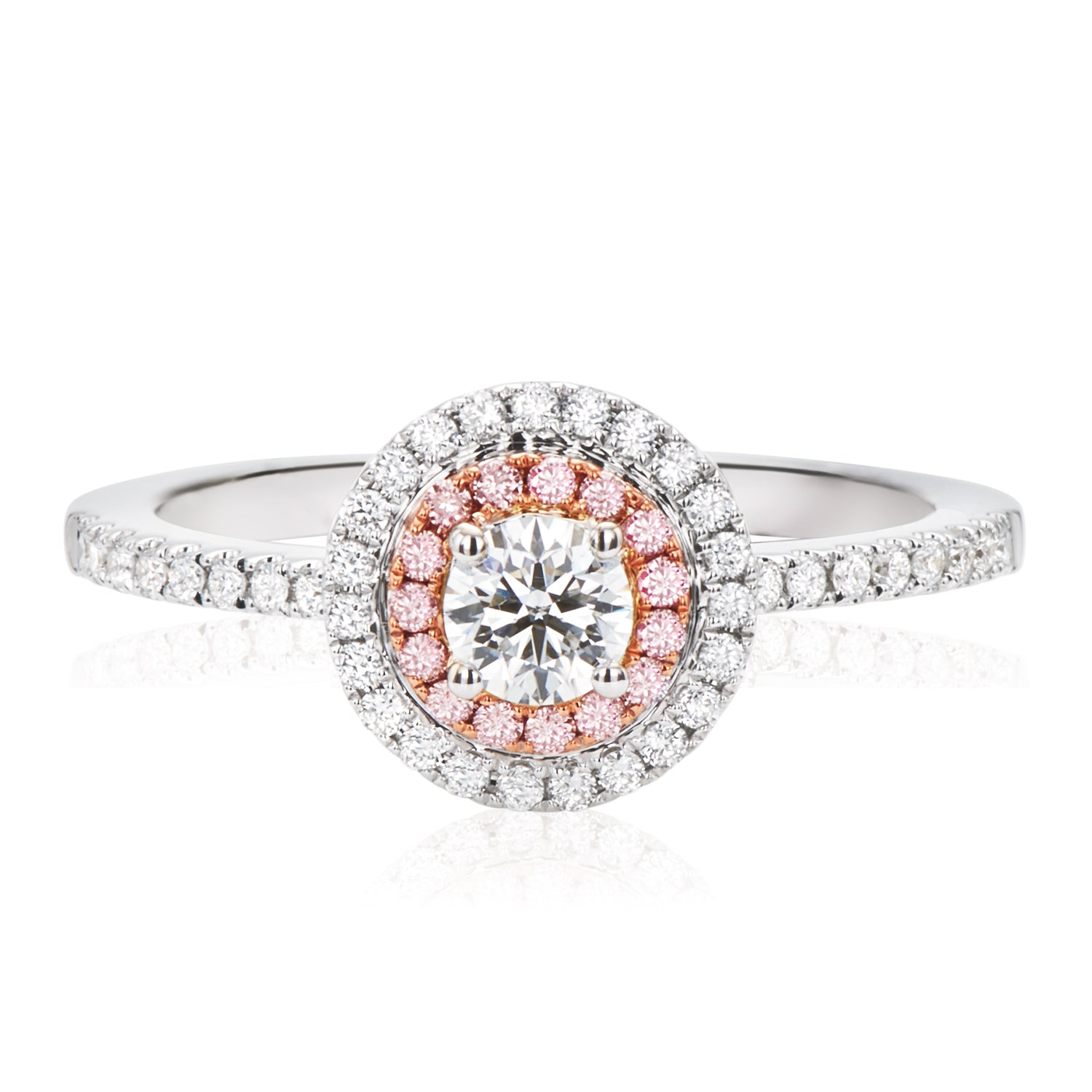 Rand 18ct Rose & White Gold Round Brilliant Cut with 0.58 CARAT tw of Diamonds